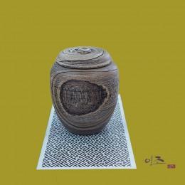 옻칠 오동나무쌀통